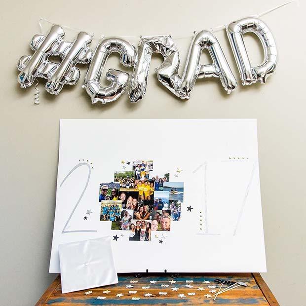 Grad Balloons and Photos Idea