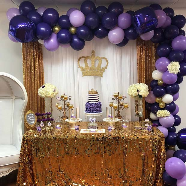Royal Purple Baby Shower Theme