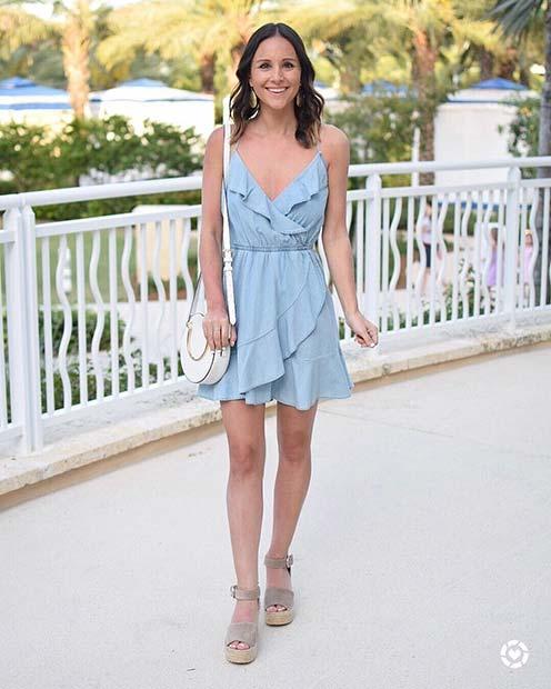 Summer Wedding Guest Dress Idea with Frills