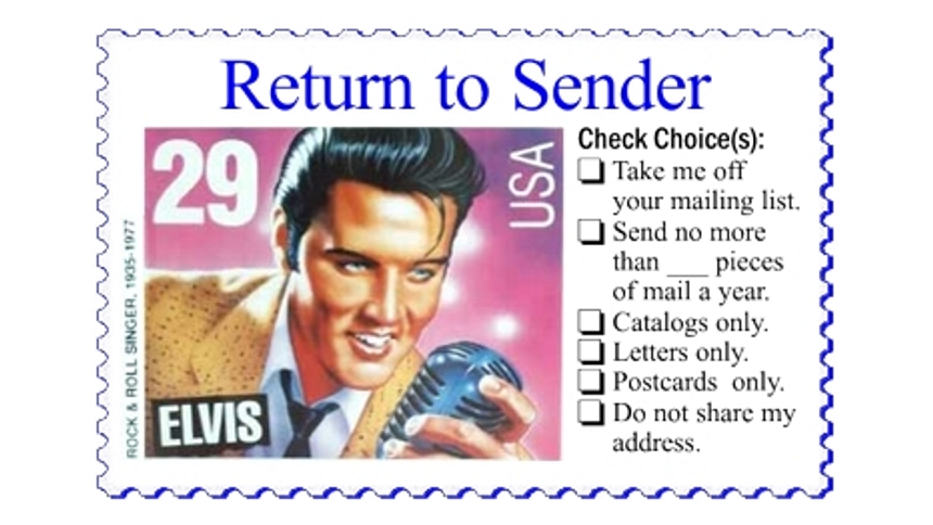Return To Sender Stamps No More Junk Mail Steal My Ideas Please