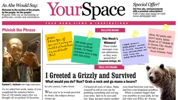 your space a proposed newspaper section