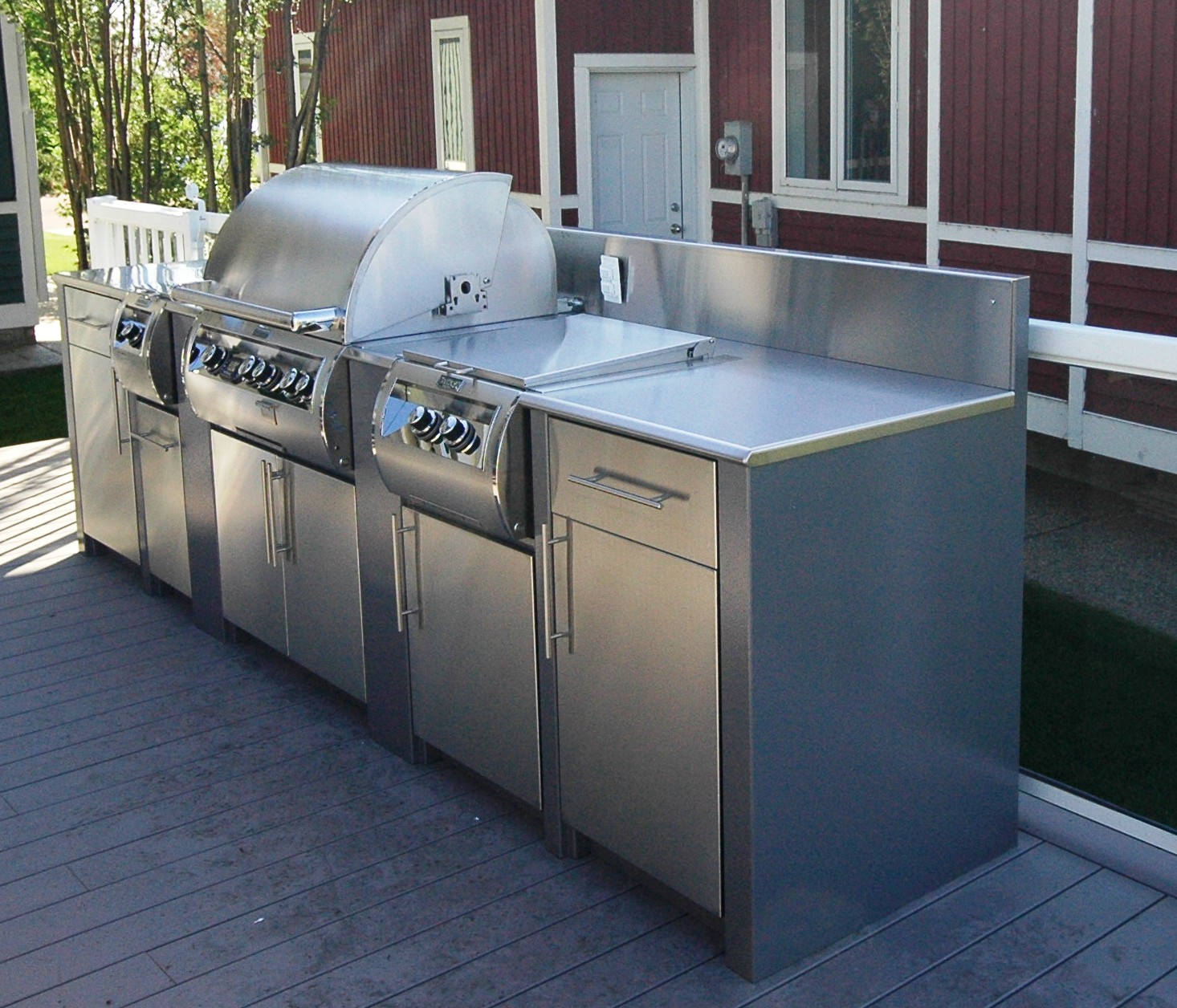 Precious Free Standing Outdoor Kitchen Stainless Steel Outdoor Kitchens Steelkitchen Outdoor Kitchen Cabinets Ideas Outdoor Kitchen Cabinets Sarasota houzz 01 Outdoor Kitchen Cabinets