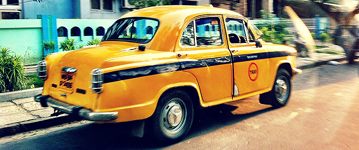Yello taxi in Kolkata