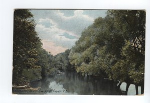 Auburn, N.Y., Owasco River #1 (postcard from 1910)