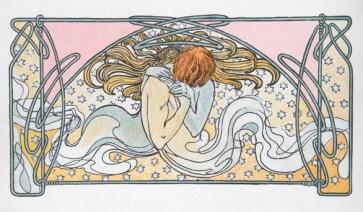 MUCHA - kissing mermaids