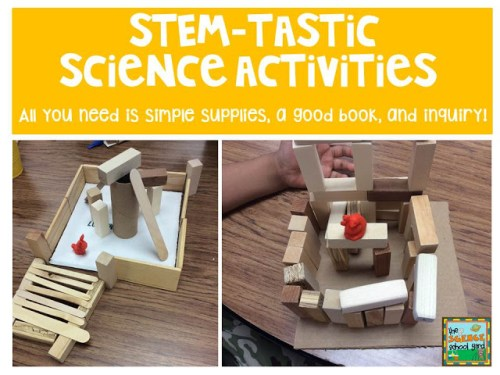 With the time crunch to get everything in the day to fit, I suggest using what you are already doing to integrate it into a fun hands-on STEM activity.