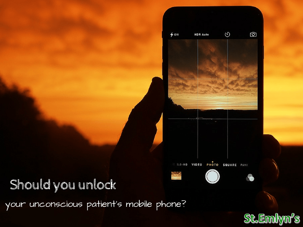 should you unlock your patients phone stemlyns