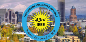43rd IEEE Photovoltaic Specialists Conference @ Oregon Convention Center | Portland | Oregon | United States