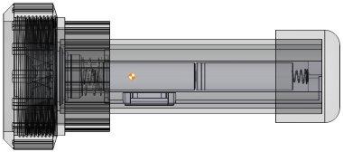 Centre de gravité de la lampe de plongée