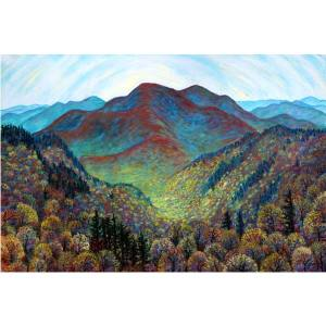 Spring Rising on Singecat Ridge, a pastel painting by Stephanie Thomas Berry