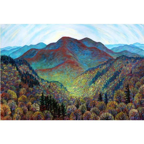 Spring Rising on Singecat Ridge, a pastel painting by Stephanie Thomas Berry