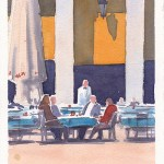 Morning coffee Plaza Major4x6
