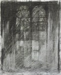 Tombstone, 2006, charcoal on paper, 27x22""