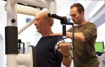 fysiotherapeut nick tijdens werk