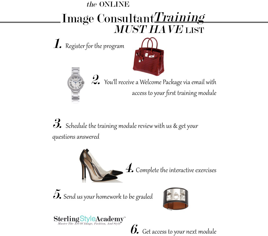 Online image consultant personal stylist training certification once you have completed all the learning modules you will present your final project to your instructor via a 2 hour skype training session in which you 1betcityfo Image collections
