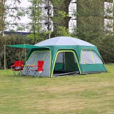 two compartment camping tent
