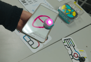 Ozobot on phone