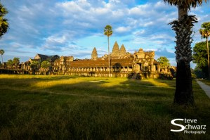Angkor Wat in the setting sun.
