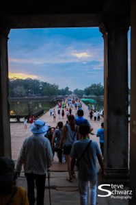 Why is thre a rush ?. The view of Angkor Wat is still amazing.