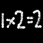 1 x 2 = 2
