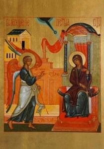 Icon of the Annunciation card