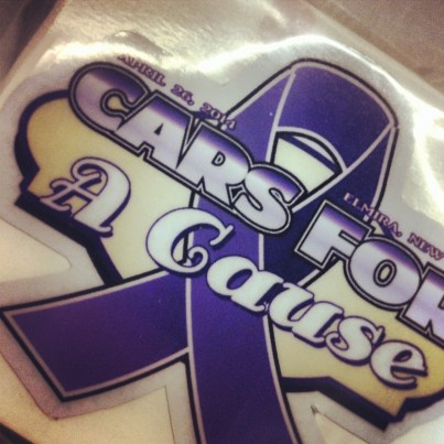 Cars For A Cause Contour Cut Stickers