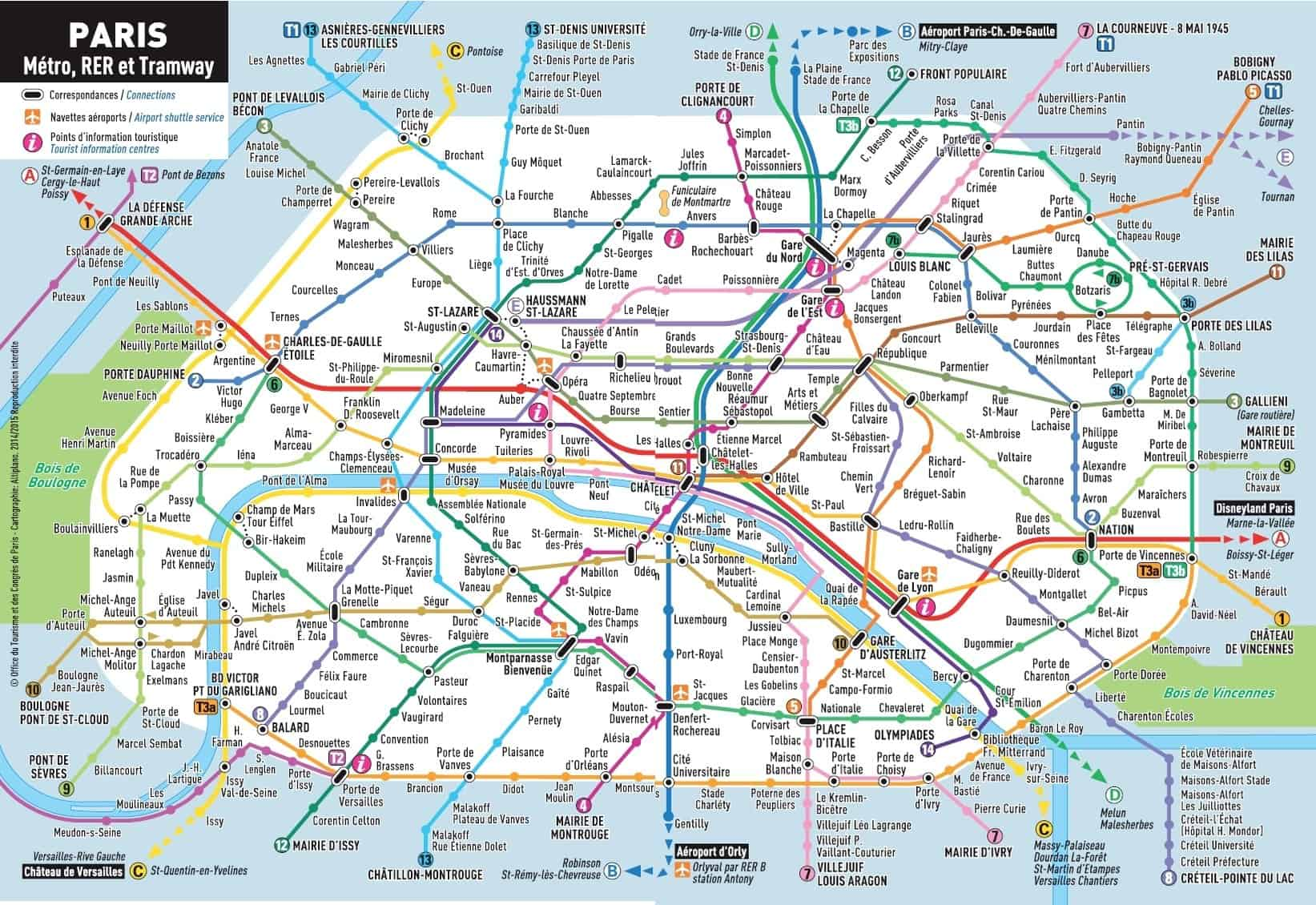 Paris Metro Detailed Map And Prices