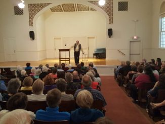 Over 150 people were in attendance for Dr. Jim Showalter's presentation about the history of the KKK in Payne County.