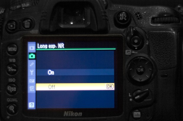 Noise Reduction Off on Nikon D7000, refer to your camera's manual