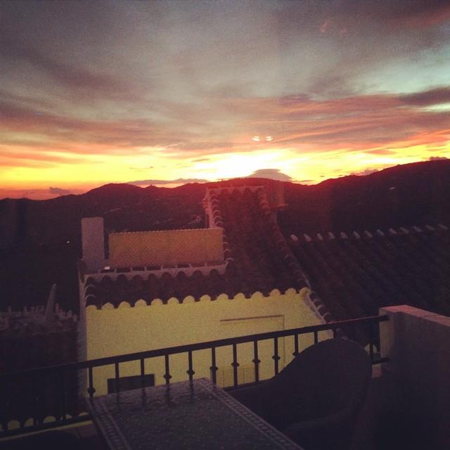 Frigiliana solnedgang