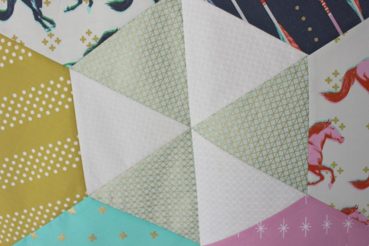 Quilt top detail, by stitchified