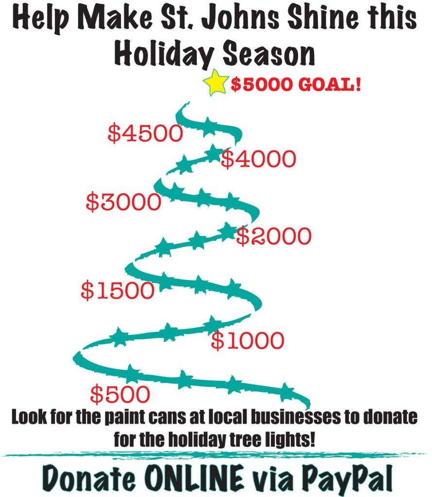 Help make St. Johns shine this holiday season.