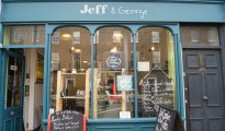 Jeff & George on St John Street. Who's George? You'll have to ask Jeff