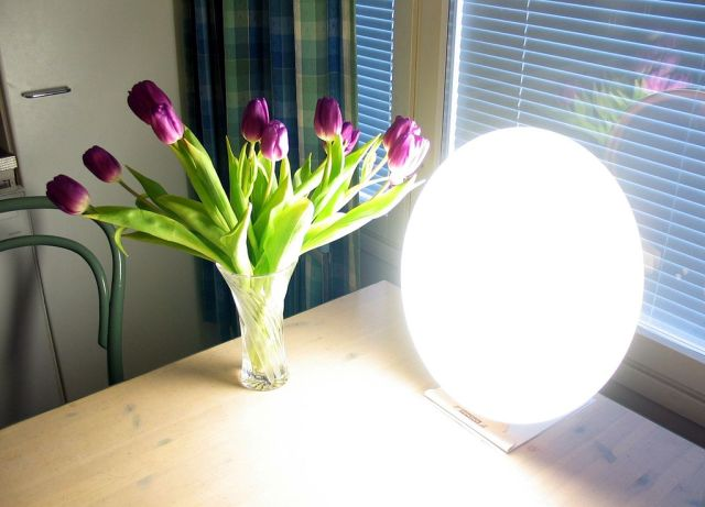 Light therapy can help with depression, especially in the dark winter months