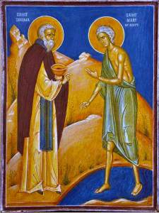 St. Mary of Egypt and St. Zosima