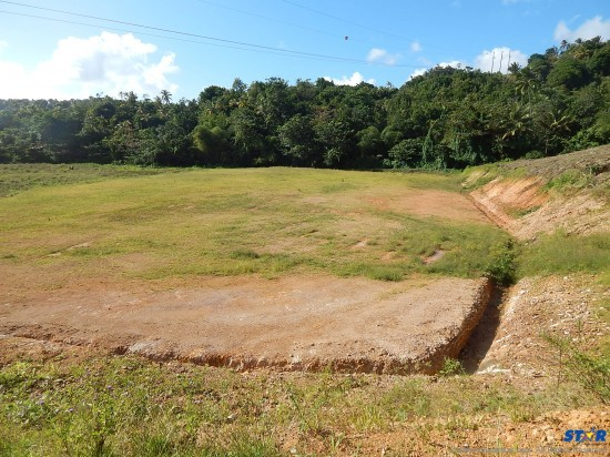 Will this slab of dirt finally be transformed into a suitable playing field for George Charles students?