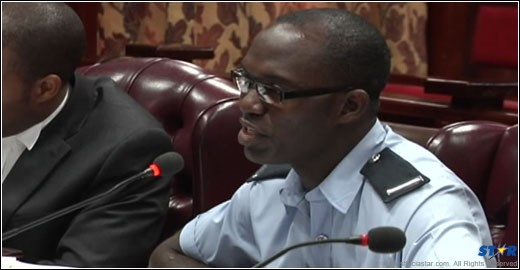 Enquiry: Shayne Felix testifying at the  enquiry into the Saint Lucia Fire Services.