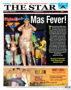 No wardrobe malfunction here. This naked reveler had them screaming at the Gaiety on Rodney Bay during  a carnival band launch this year which was attended by key members of the Carnival bands association and the Carnival stakeholders.