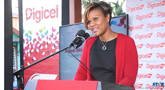 Digicel's Head of Operation Sioban James-Alexander is delighted about the latest Christmas promotion.
