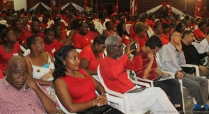 The prime minister and leader of the SLP Kenny Anthony spewed his message before party faithful  and invited diplomats.
