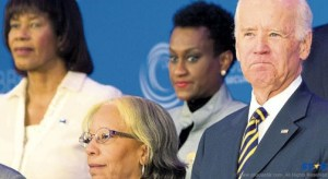 United States VP Joe Biden (right) poses for a group photo at the Caribbean Energy Security Summit  (AP Photo)