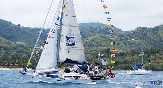 This sailboat was among the fleet in the World ARC 2014-15.