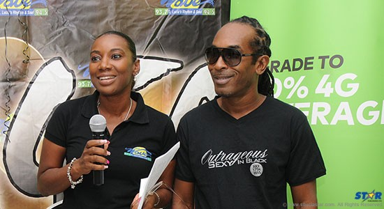 The Wave Country Manager Sue Monplaisir with Farmer Nappy at last week's launch of 'Outrageous Sexy In Black'.