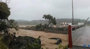 Rivers and waterways overflowed their banks.