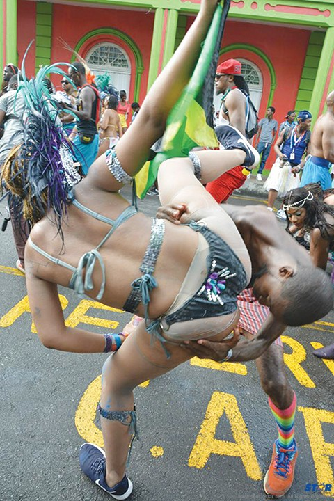 For far too many St Lucians freedom is just another word for nothing left to lose! (Photo taken at Carnival 2015.)