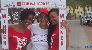 Digicel came out strong in support of the Walk for the Cure activity last weekend.