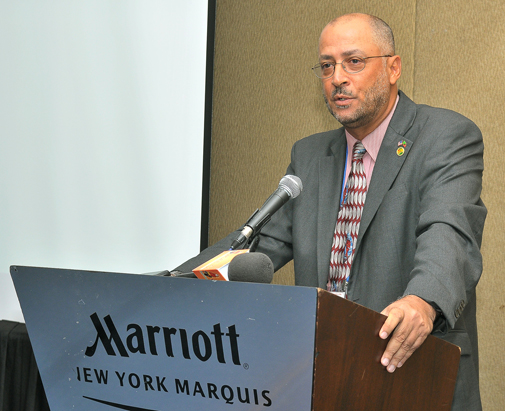"""Former Minister of Tourism and International Transport under the St. Kitts-Nevis Labour Party Government, and chairman of the Caribbean Tourism Organization, Richard """"Ricky"""" Skerritt at Caribbean Week in NYC in 2012. (NAN File photo)"""