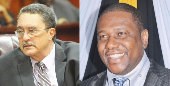 "(Left) Prime Minister Kenny Anthony: He thanked a UK court this week for ""legitimizing"" Walid Juffali's appointment as Saint Lucia's Permanent Representative to the IMO. But what the court ruled on was the irrelevance of the Saudi's presumed diplomatic immunity to his ex-wife's claim on his property portfolio! (Right) External Affairs Minister Alva Baptiste: Quite uncharacteristically, he has not only disappeared from local TV screens but has practically gone silent and incommunicado. Since the Juffali affair, not a word, not a word, not a word. Has the PM's cat got the minister's tongue?"