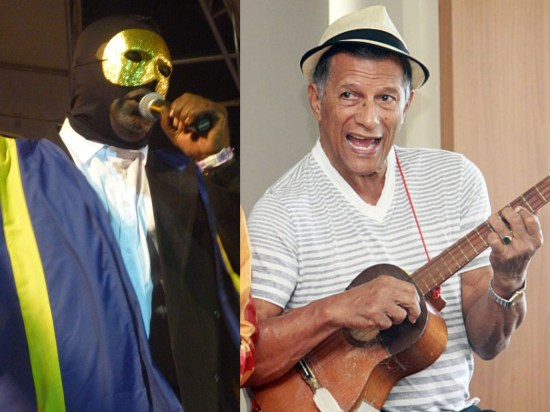 (Left) Former Extempo, Road March, Calypso and Soca Monarch De Invader. (Right) Musician Gene Lawrence.