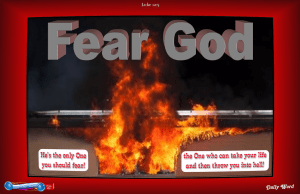 picture for spiritual appetizers - fear god